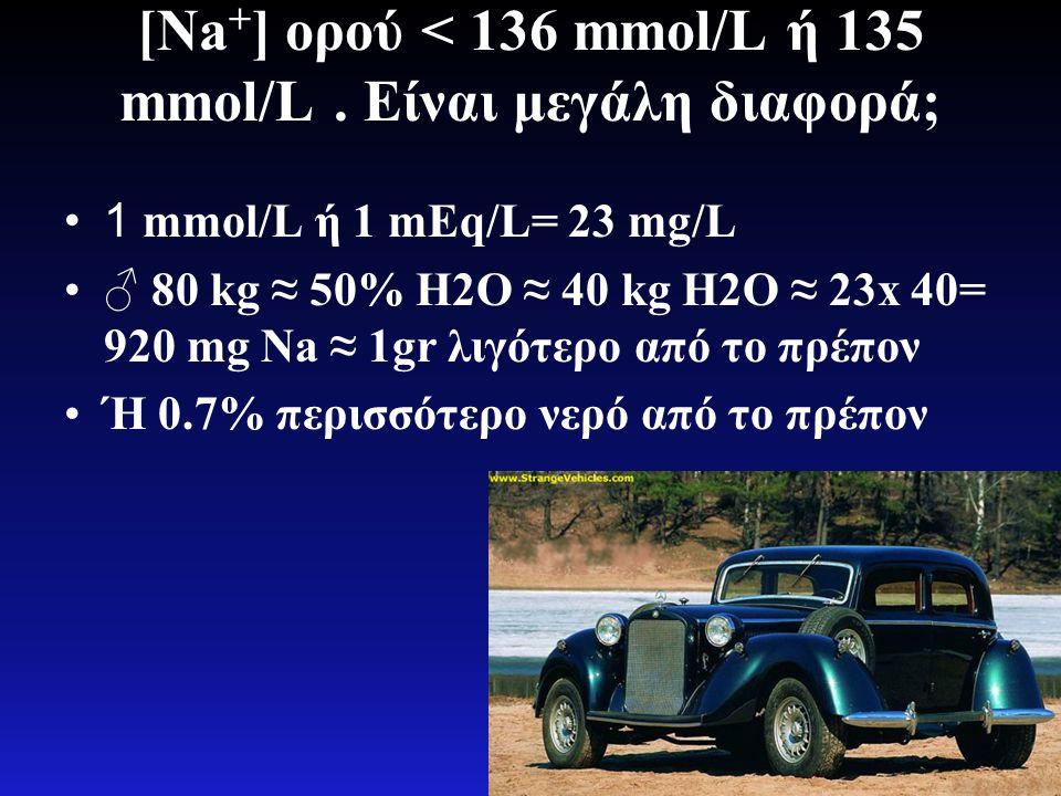 [Na+] ορού < 136 mmol/L ή 135 mmol/L . Είναι μεγάλη διαφορά;